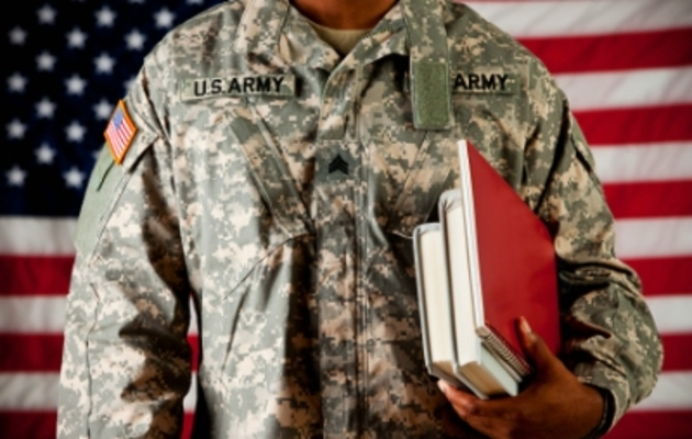 soldier going to college